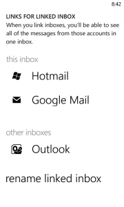 Linked Hotmail & Google Inboxes