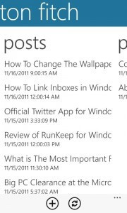 Posts Screen in the WordPress App