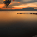 Balloons Over Lake