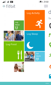 Fitbit for Windows Phone Activity Page