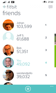 Friends in Fitbit for Windows Phone