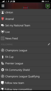 International Leagues in OneFootball for Windows Phone