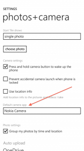 Select a Camera App in Windows Phone