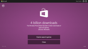 Windows Phone Store Downloads Count