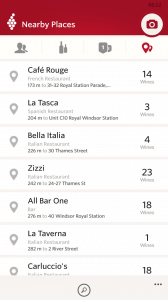 Wine Rating from nearby locations