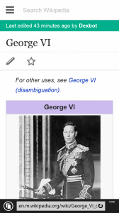 Wikipedia Content in UK Monarchs App