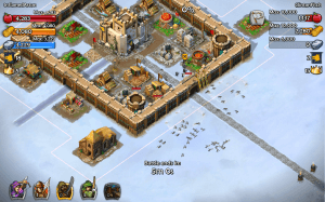 Battle in Age of Empires Castle Siege