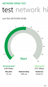 Network Speed Test for Windows Phone