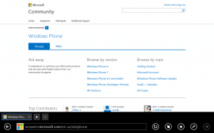 Windows Phone Community Page