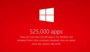 525000 Apps in the Windows Stores
