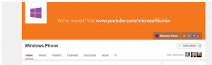 Windows Phone YouTube Page Banner