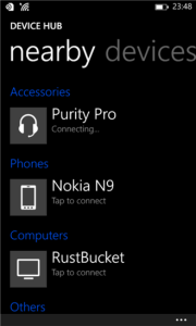 Device Hub for Windows Phone