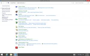 Windows 8.1 with Bing Control Panel