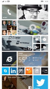 My Windows Phone Start Screen with Transparent Live Tiles
