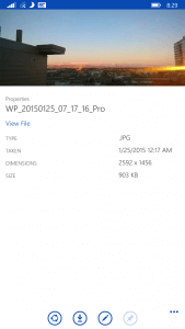 New File Properties in OneDrive for Windows Phone