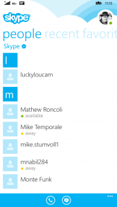 New Skype for Windows Phone