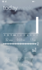 Activity Tracker on Tetra Lockscreen