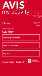 Avis App for Windows Phone