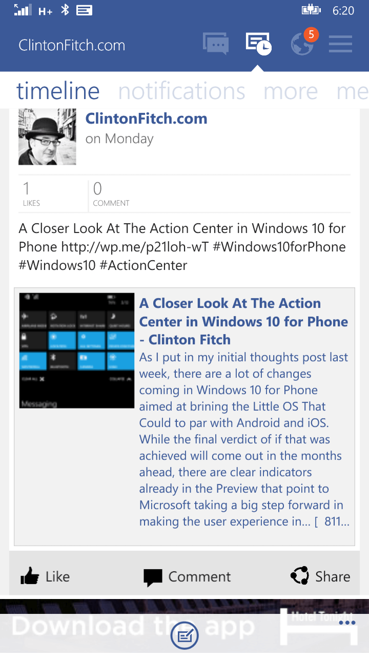 Fb pages manager for windows phone updated to 2 0 for Pages for windows