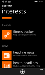 Fitness Tracker Now in Cortana