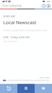 NPR One for Windows Phone 8.1