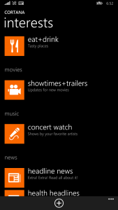 New Showtimes+Trailers and Concert Watch in Cortana
