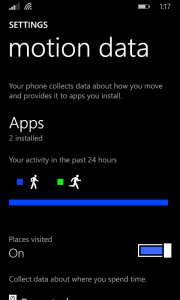 Enable Motion Data on a SensorCore Enabled Lumia