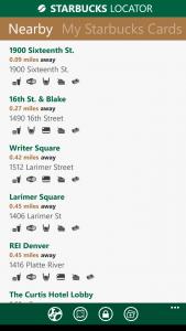 Starbucks Locator App List of Stores