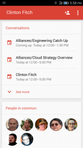 Conversations View of Gmail for Android