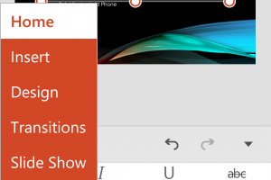 Easy to Navigate Menus in PowerPoint for Android Phone