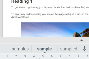 Editing Text in Word for Android Phone