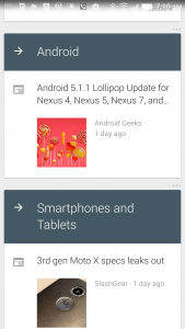 Feedly Cards in Google Now