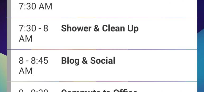 Microsoft Outlook Agenda Widget