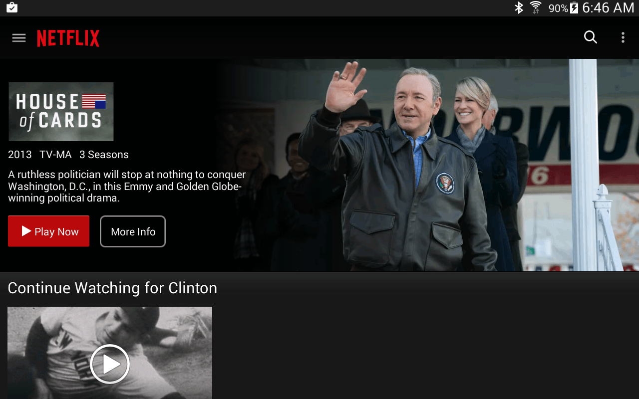 netflix for android app updated with ui tweaks and fixes