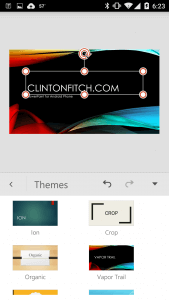 Themes in PowerPoint for Android Phone