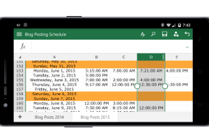 Excel in Office for Android Phone