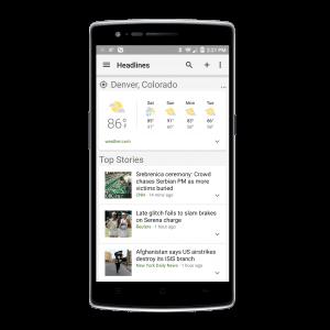 Google News & Weather