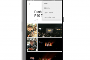 Google Photos for Android Album Editing