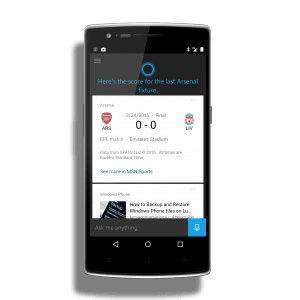 Cortana for Android