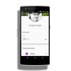 Goal Setting in Google Fit