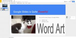 Google Slides in Chrome