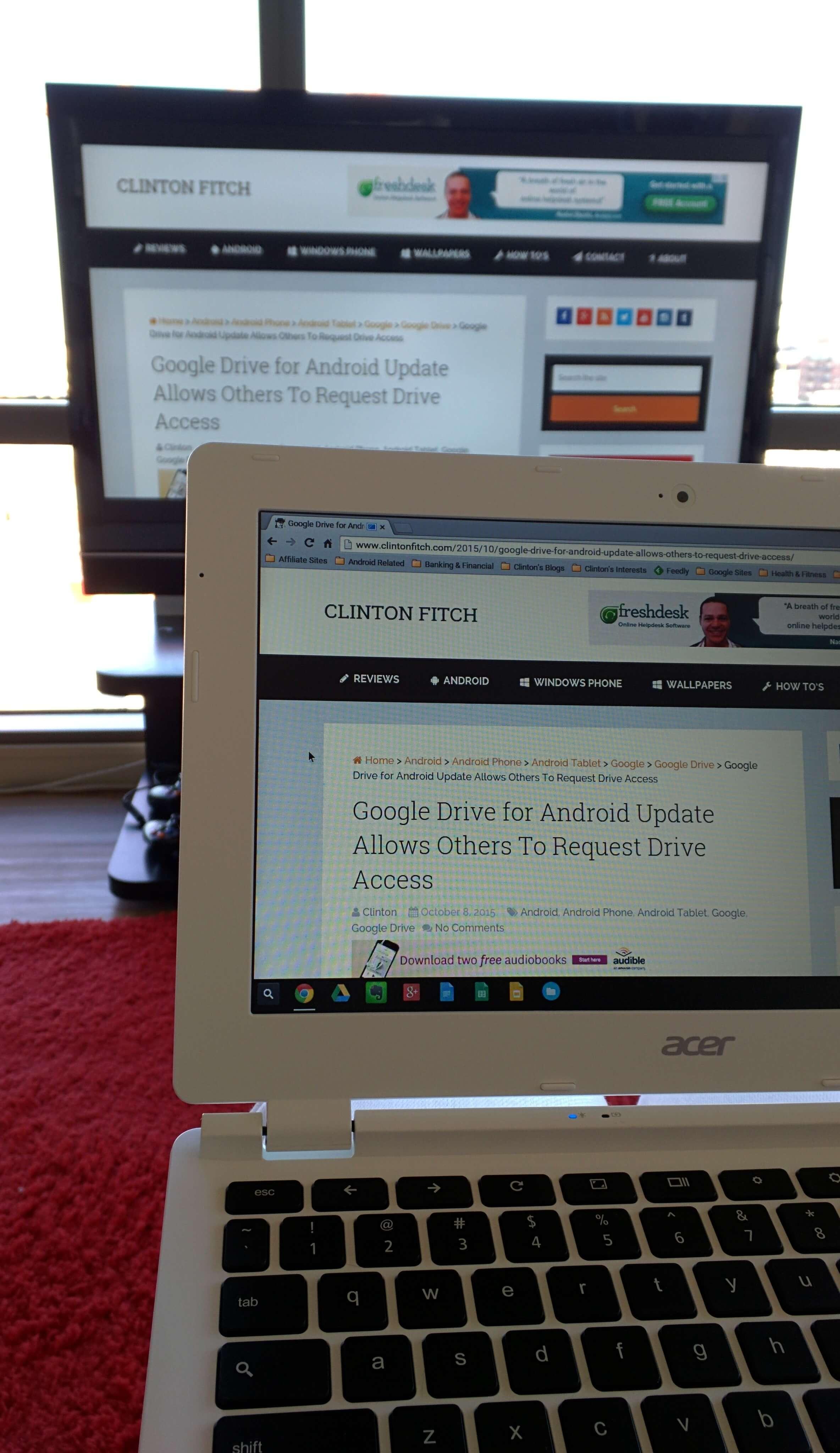 Chromebook Casting to Chromecast