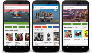 New Google Play Store Pages