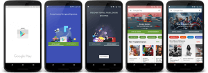 New Google Play Store Transitions