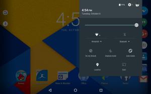 Nexus 7 Notification Drawer