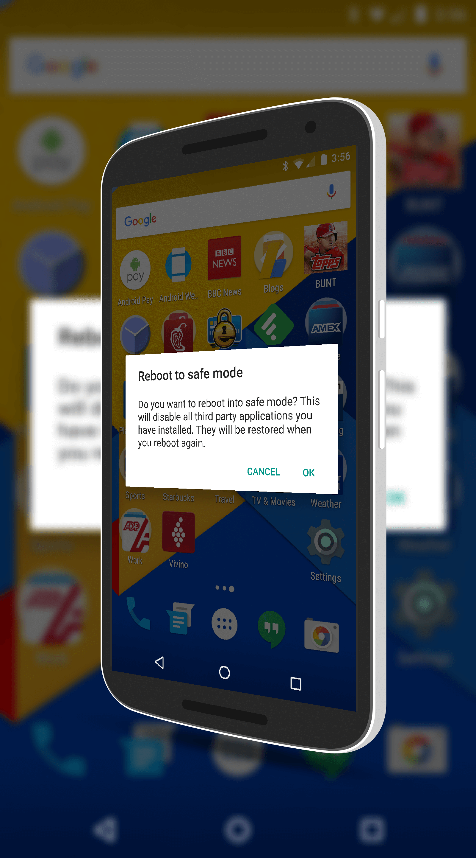 Rebooting Android into Safe Mode