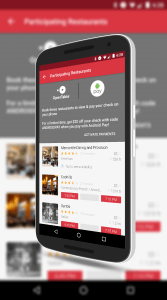 Android Pay in OpenTable