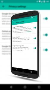 Google OnHub Privacy Settings