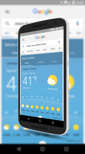 New Weather Sheet in Google Now