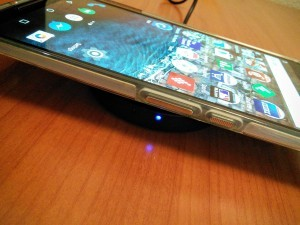 Nexus 6 Charging on the Anker Wireless Charger
